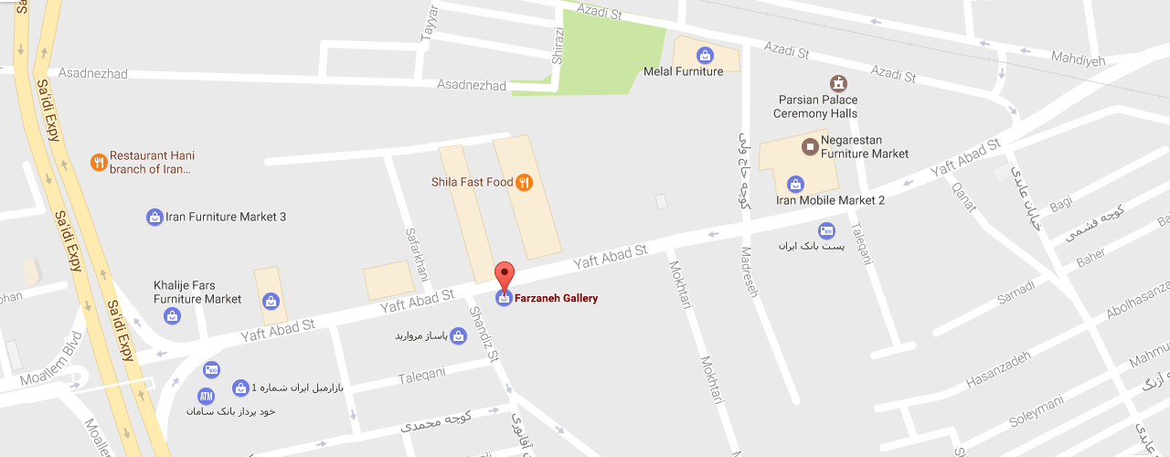 farzaneh gallery map