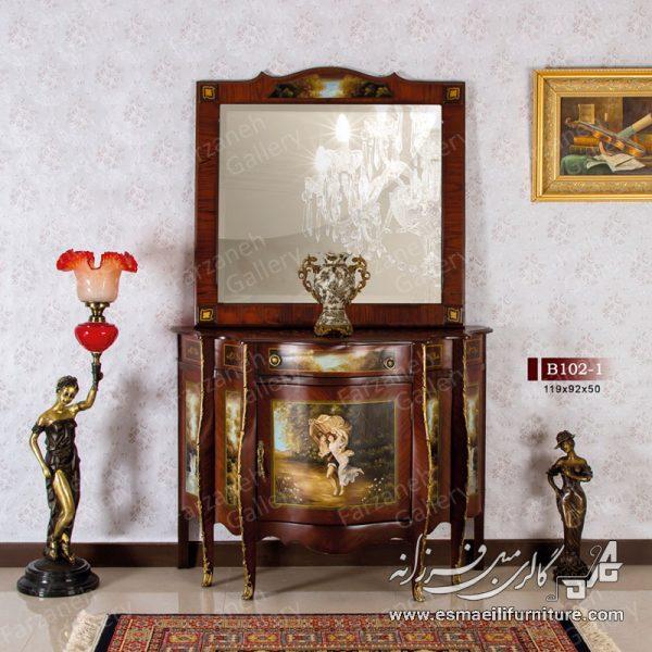 آینه کنسول,کنسول معرق,کنسول چوبی,آینه کنسول معرق,آینه کنسول چوبی,بوفه,پارتیشن,آینه کنسول نقاشی,رنگ سفید نقاشی