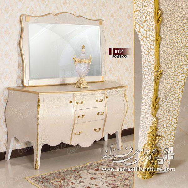 آینه کنسول خمره ای مدل B151 , آینه کنسول,کنسول معرق,کنسول چوبی,آینه کنسول معرق,آینه کنسول چوبی,بوفه,پارتیشن,آینه کنسول نقاشی,رنگ سفید نقاشی