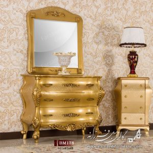 آینه کنسول,کنسول,آینه کنسول چوبی,آینه کنسول معرق,کنسول رنگ سفید