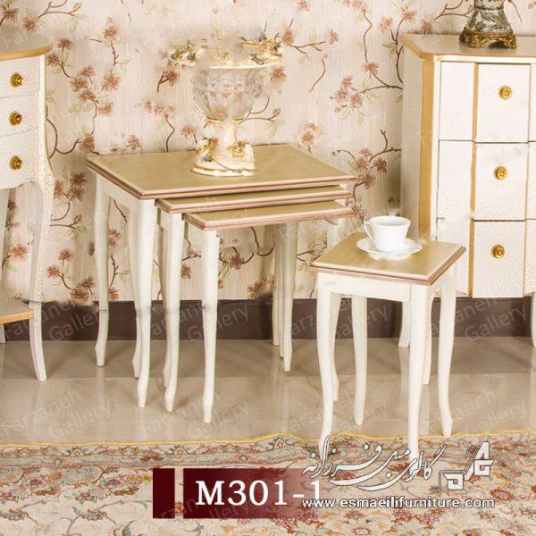 میز عسلی چهار پایه آهویی,میز عسلی,میز عسلی کشویی,میز عسلی چهار پارچه,میز عسلی معرق,میز عسلی آهویی,میز پذیرایی,میز عسلی چوبی